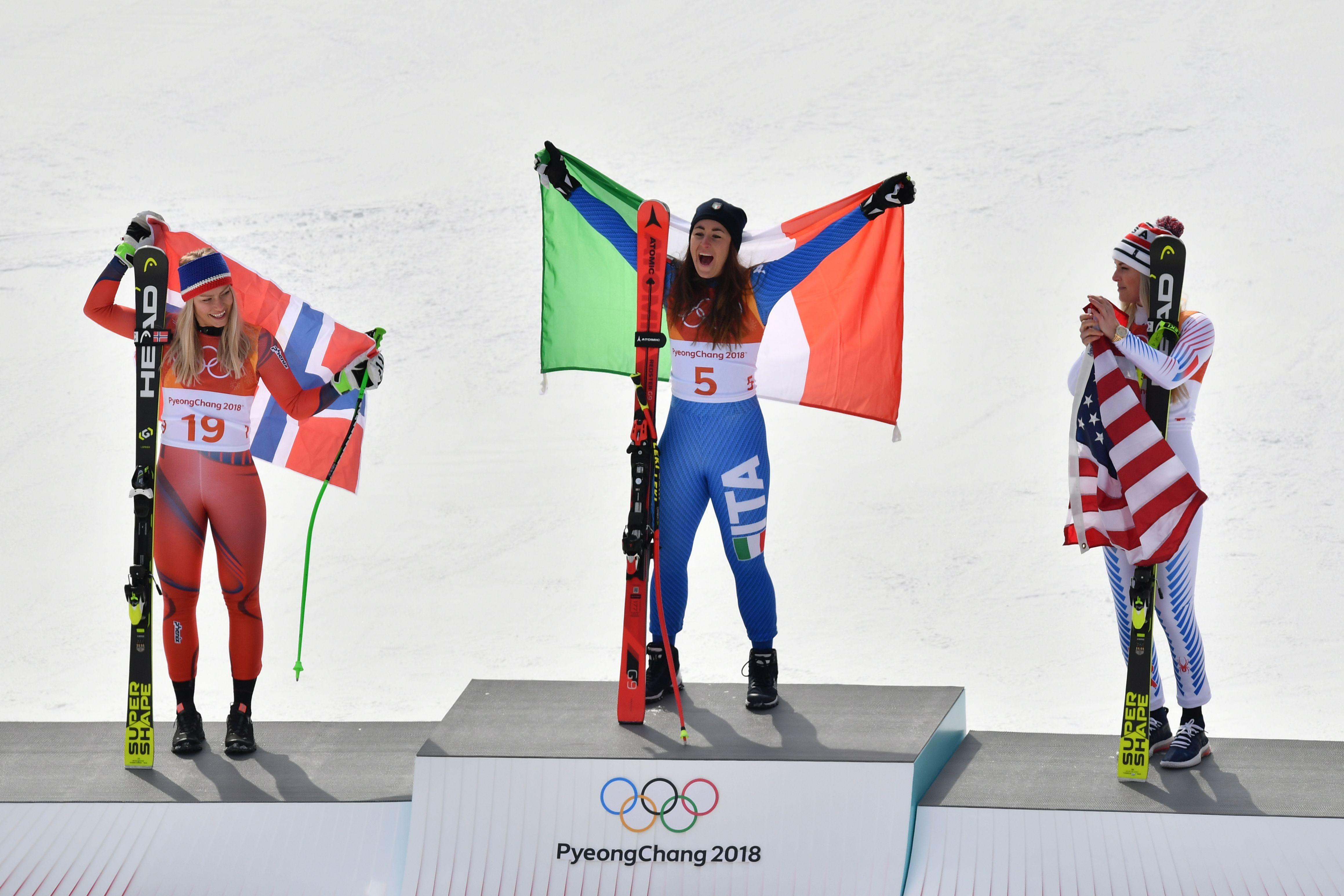 Jeux olympiques - Pyeongchang 2018 - JO 2018 : Goggia en or, épilogue en larmes et en bronze pour Vonn