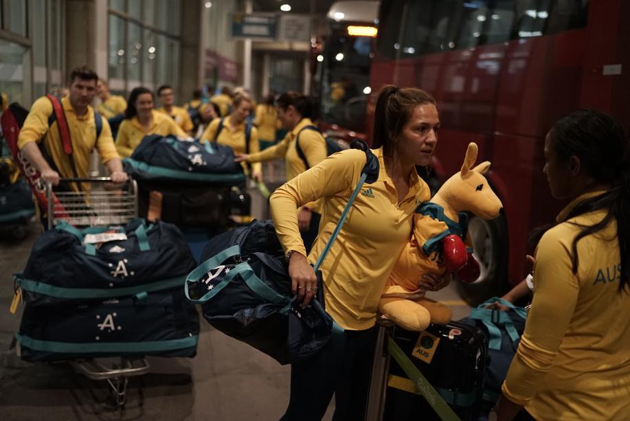Jeux Olympiques - Rio 2016 - Les Australiens évacuent le village olympique après un incendie