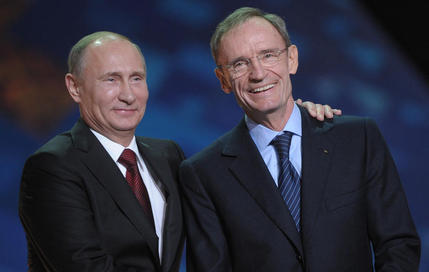 Vladimir Poutine et Jean-Claude Killy