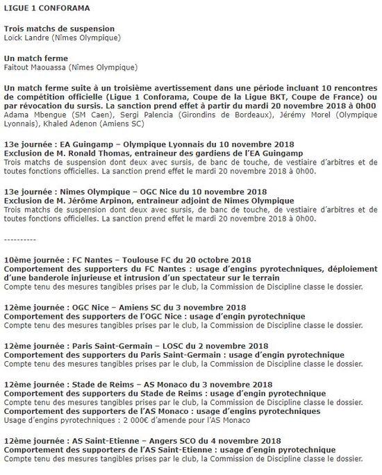 Trois matches ferme pour le Nîmois Landre