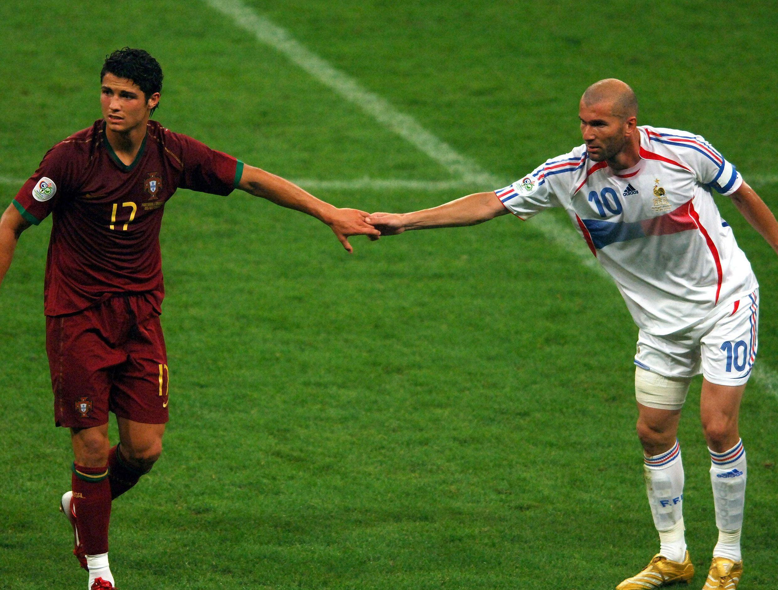 3 fotos 3 de jugadores raras hist ricas etc - France portugal coupe du monde 2006 ...