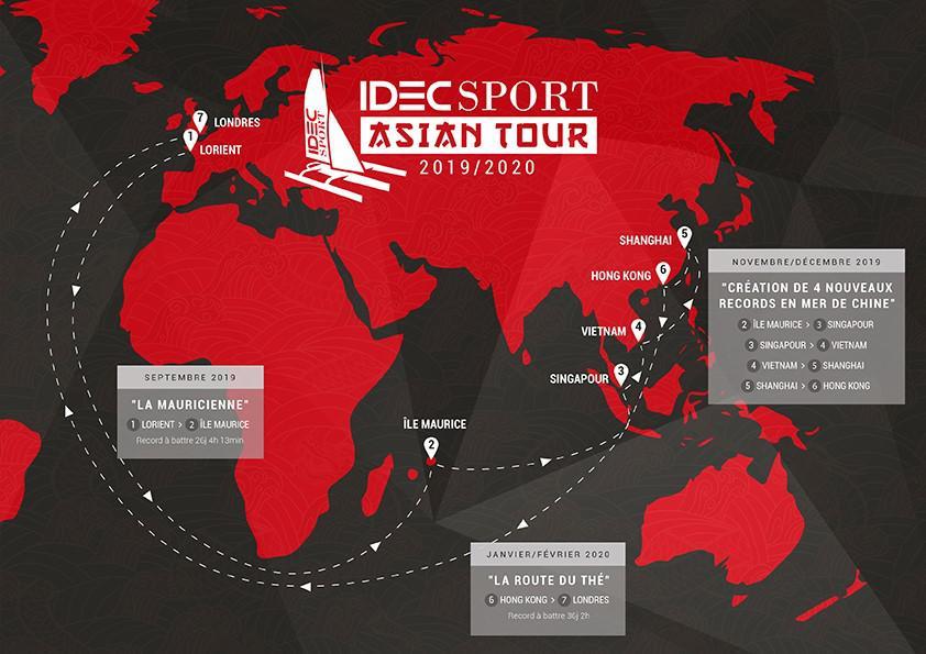 Après son succès dans la Route du rhum, Joyon se tourne vers l'Asie