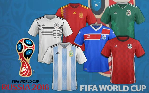 Les maillots de la coupe du monde 2018 russie 2018 coupe du monde football - Maillot equipe de france coupe du monde 2014 ...