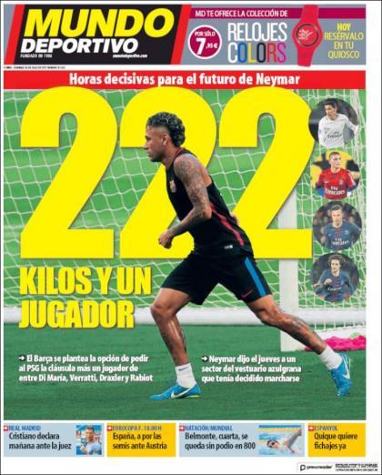 Neymar risque de passer à côté de 26 millions d'euros