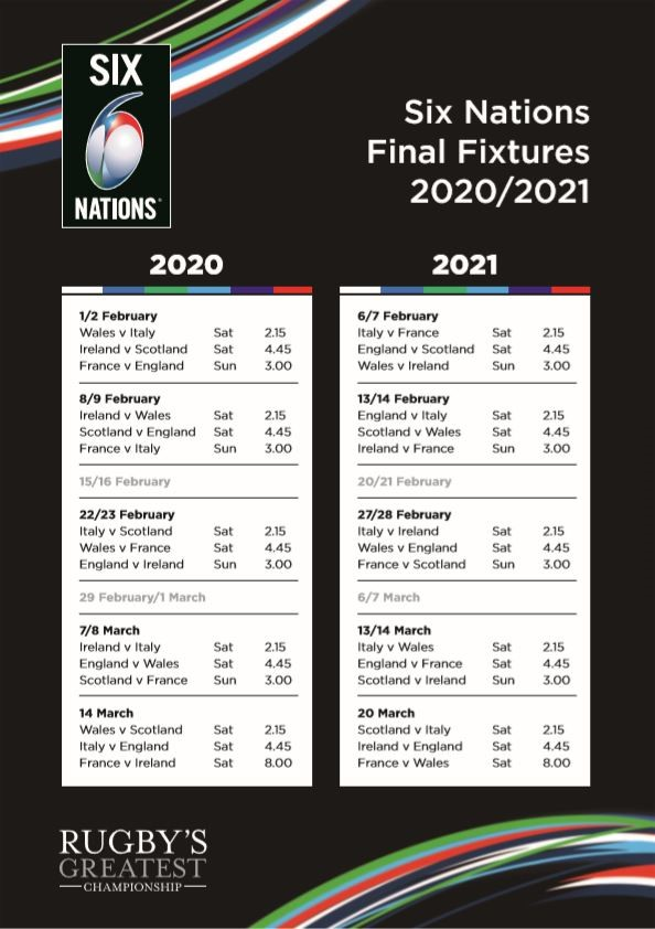 Tournoi 6 Nations 2021 Calendrier Six Nations 2020 : les Bleus attaqueront par le «Crunch» contre l