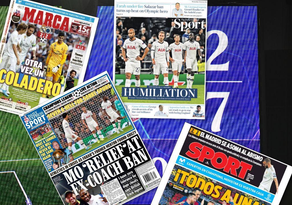 Football - Ligue des champions - «Passoire», «abysse», «7e enfer» : Les presses espagnole et anglaise fustigent le Real Madrid et Tottenham