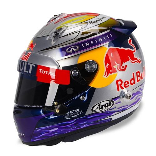 un casque sp cial pour vettel fil info formule 1 auto moto. Black Bedroom Furniture Sets. Home Design Ideas