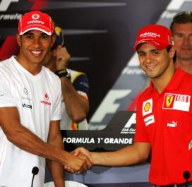 Lewis Hamilton et Felipe Massa 2008