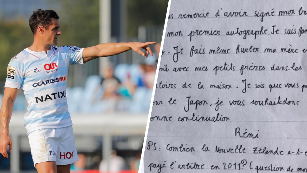 Rugby -  La lettre géniale d'un jeune fan à son idole Dan Carter