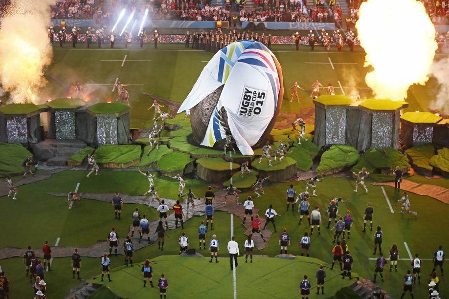 C r monie d ouverture la terre a trembl coupe du - Resultats coupe du monde de rugby 2015 ...