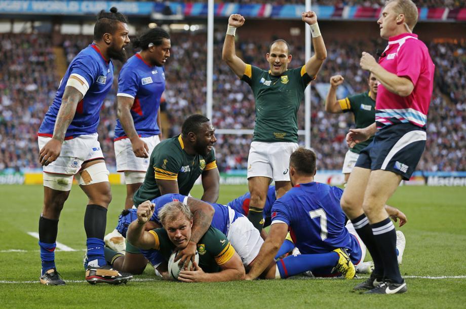 L 39 afrique du sud passe ses nerfs sur les samoa coupe du - Coupe du monde rugby afrique du sud ...