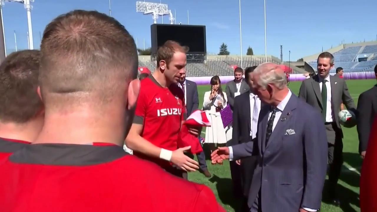 Rugby - Coupe du monde 2019 - Coupe du monde: Le prince Charles pousse derrière avec les Gallois