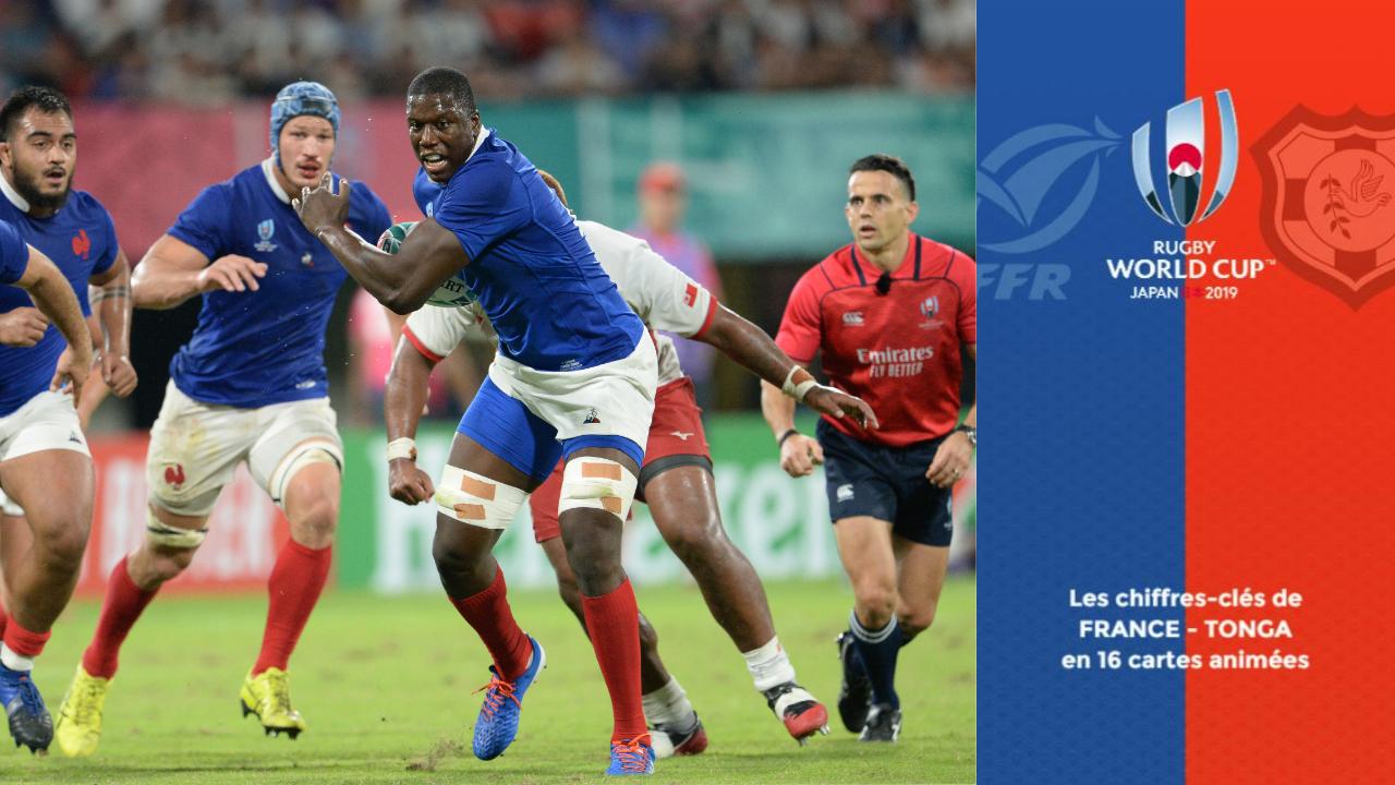 Rugby - Coupe du monde 2019 - France-Tonga : les chiffres-clés de la rencontre