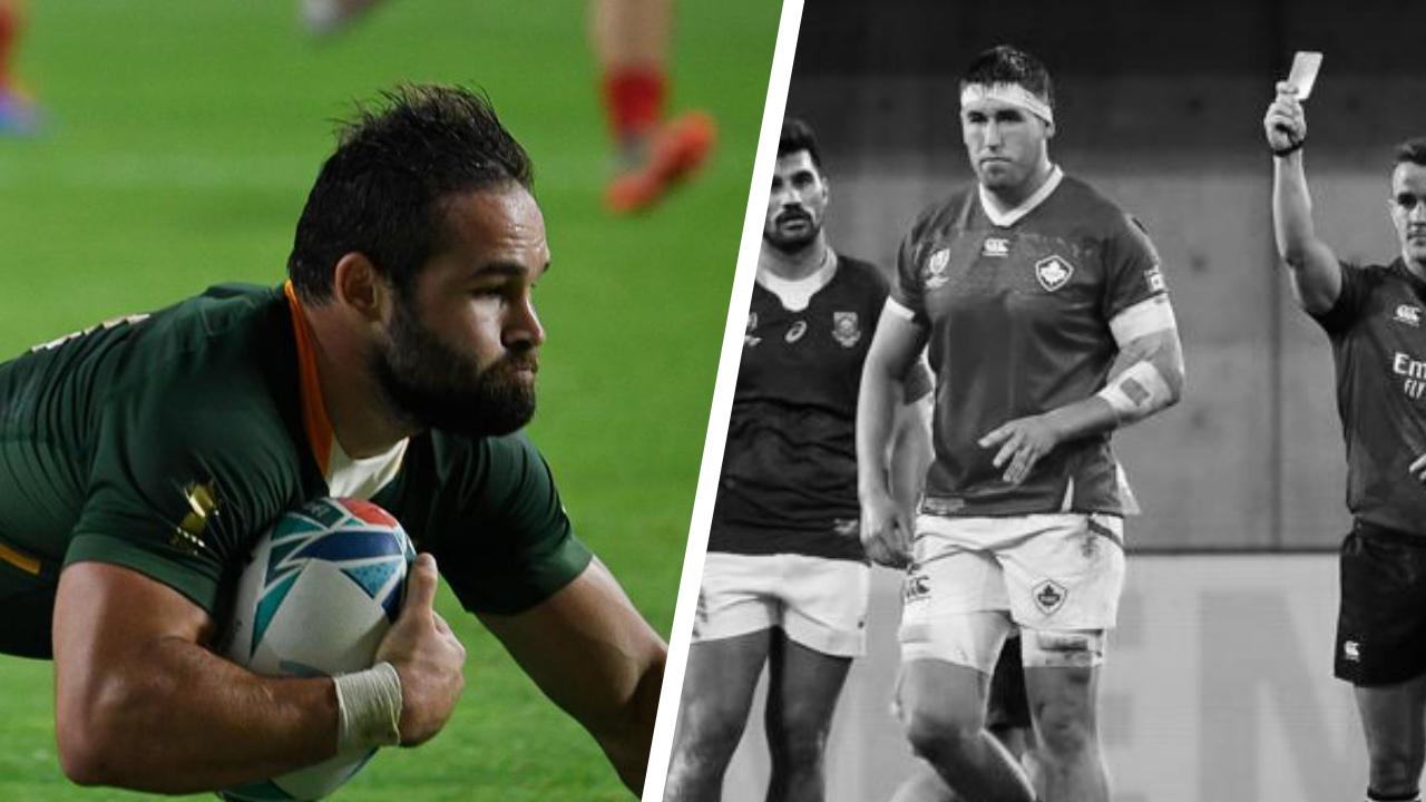 Rugby - Coupe du monde 2019 - Tops/Flops Afrique du Sud-Canada: Reinach voit triple, les Canadiens aux abois