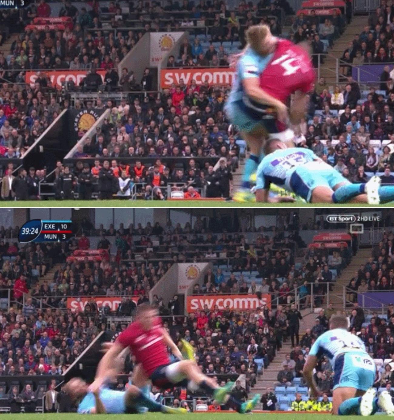 Rugby - Coupes d'Europe - La charge insensée sur une tentative de transformation (vidéo)