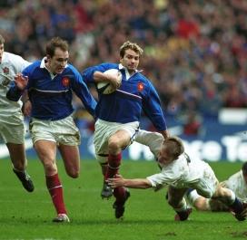 Avec les Bleus en 2000 face aux Anglais