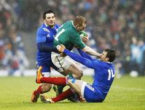 Keith Earls (Irlande) - Florian Fritz - Vincent Clerc (France)
