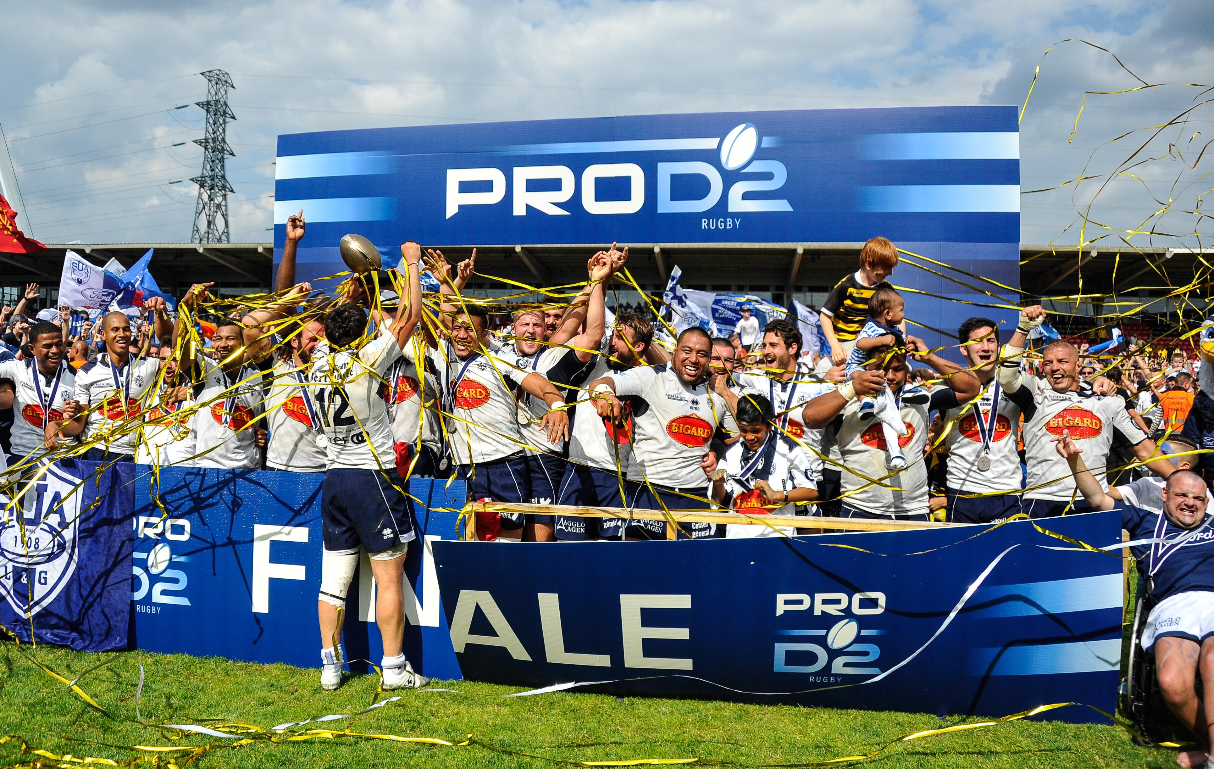 Rugby - Pro D2 - Agen savoure sa montée dans l'élite