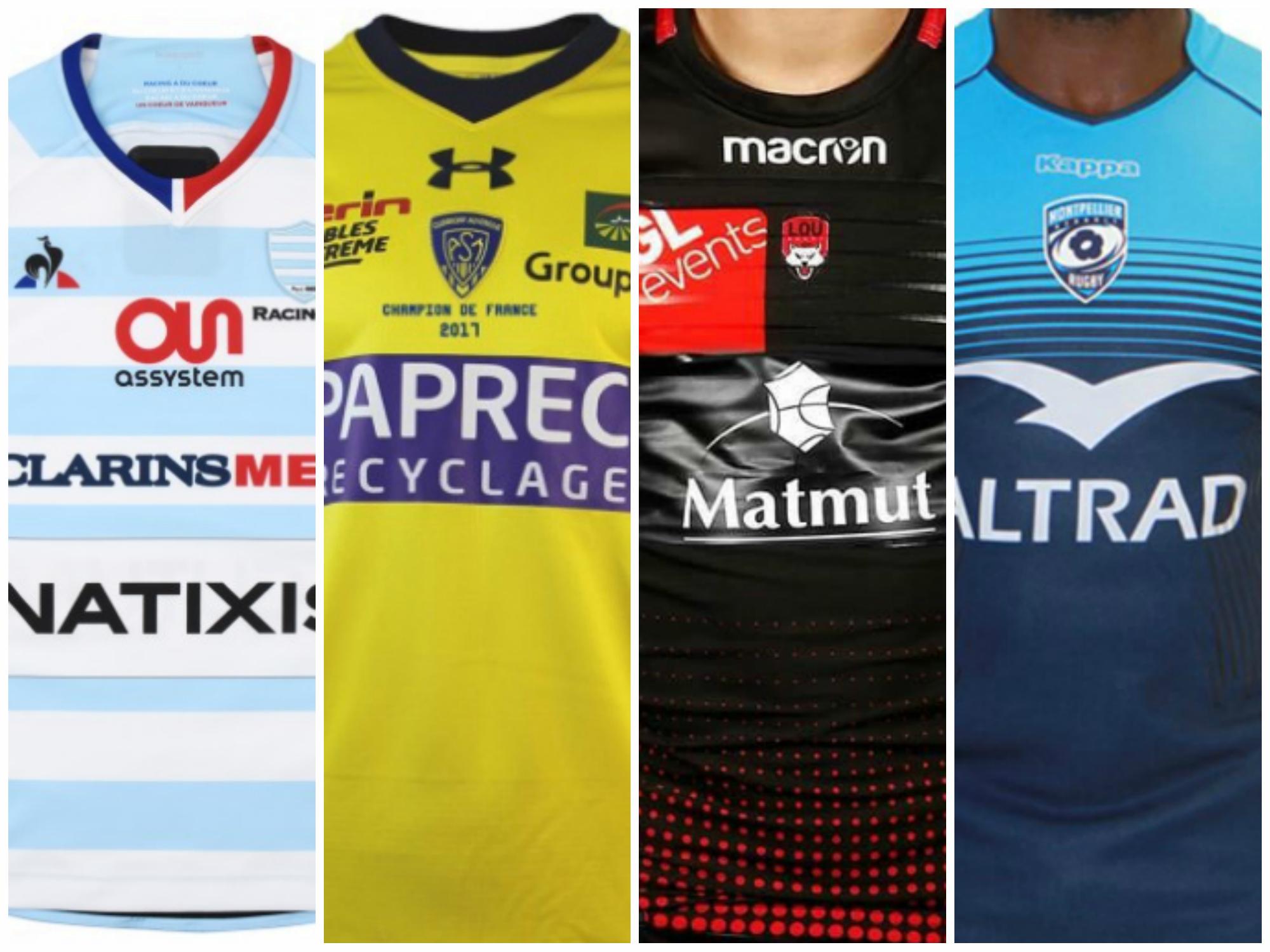 Rugby - Top 14 - Sondage : votez pour le plus beau maillot du Top 14
