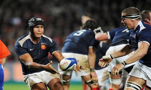 Le choc frontal des troisièmes lignes - VI Nations - Rugby -