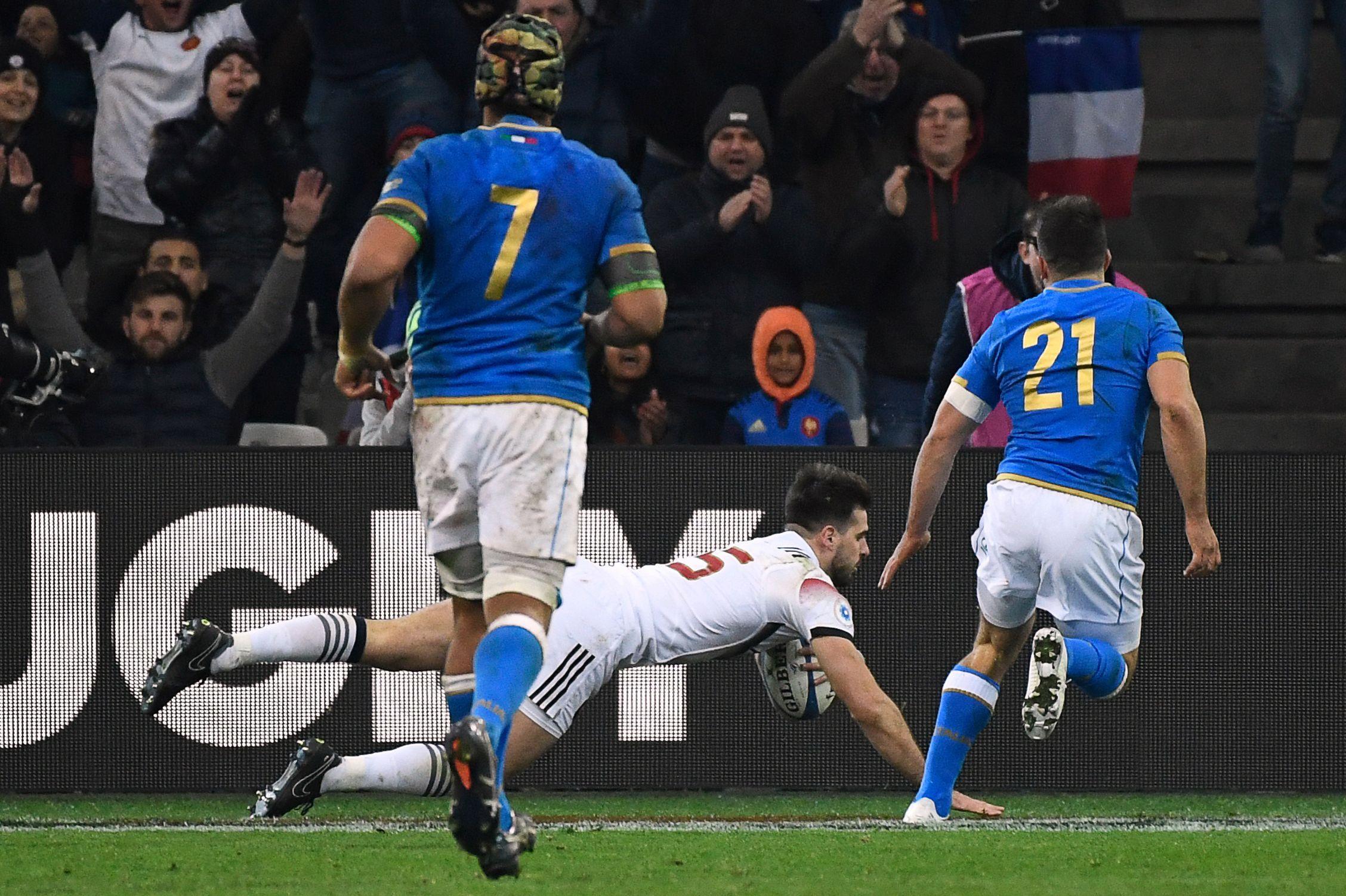 Rugby - XV de France - France-Italie : revivez les cinq essais du match