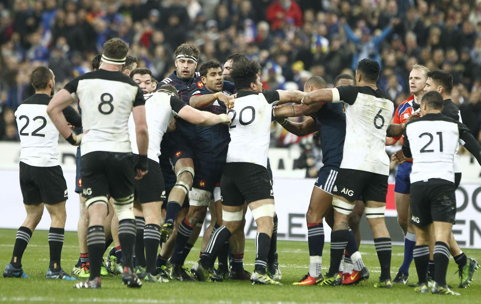Rugby - XV de France - Les Bleus dénoncent les dérapages des All Blacks