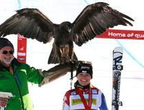 Lara Gut - Podium - Aigle