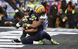 Seattle Seahawks wide receiver Jermaine Kearse (15) Green Bay Packers cornerback Tramon Williams (38) NFC Championship CenturyLink Field