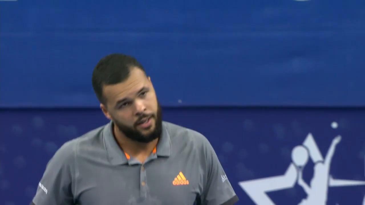 Tennis - ATP - Anvers: Le point qui permet à Simon d'éliminer Tsonga
