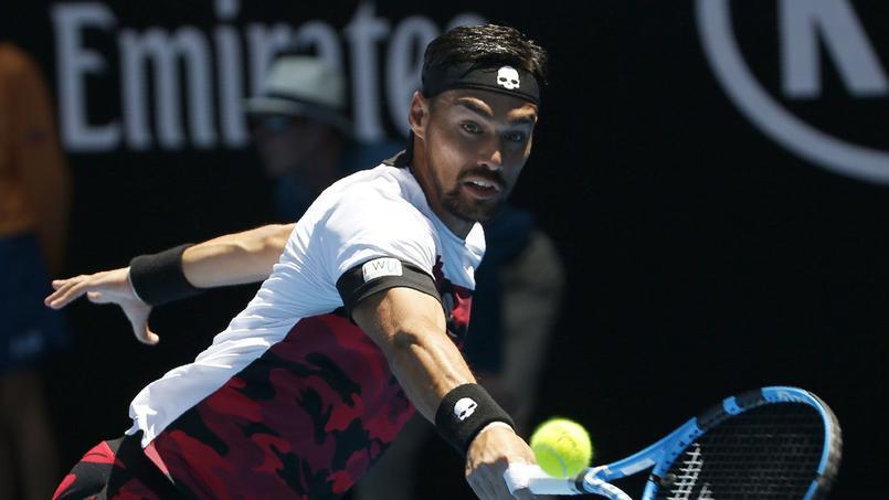 Tennis - ATP - Fognini remporte un point incroyable après avoir lâché sa raquette