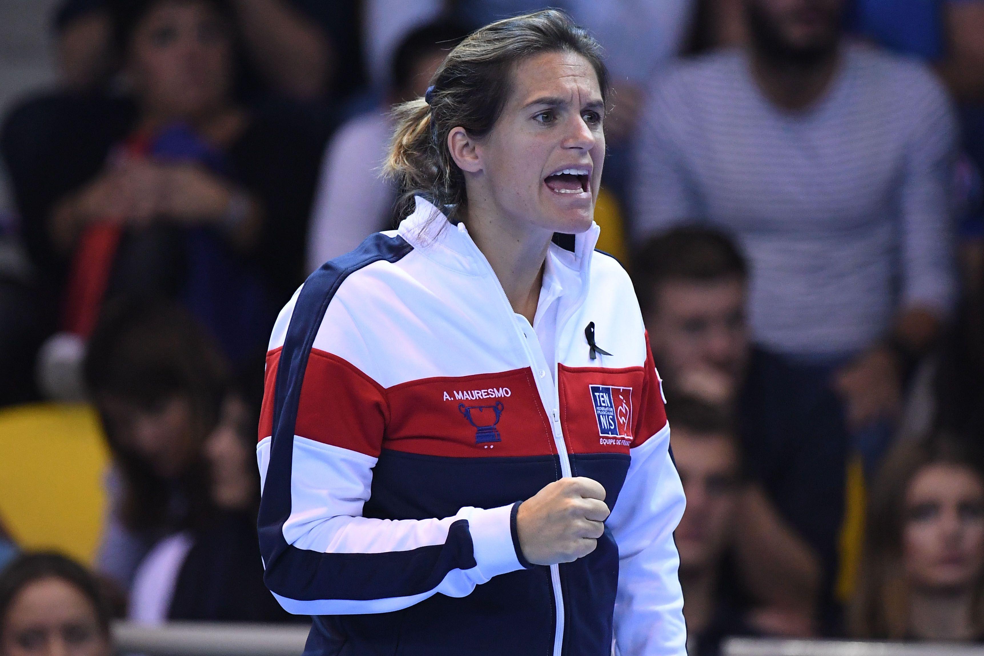 Tennis - Coupe Davis - Amélie Mauresmo, une pionnière à la tête des Bleus