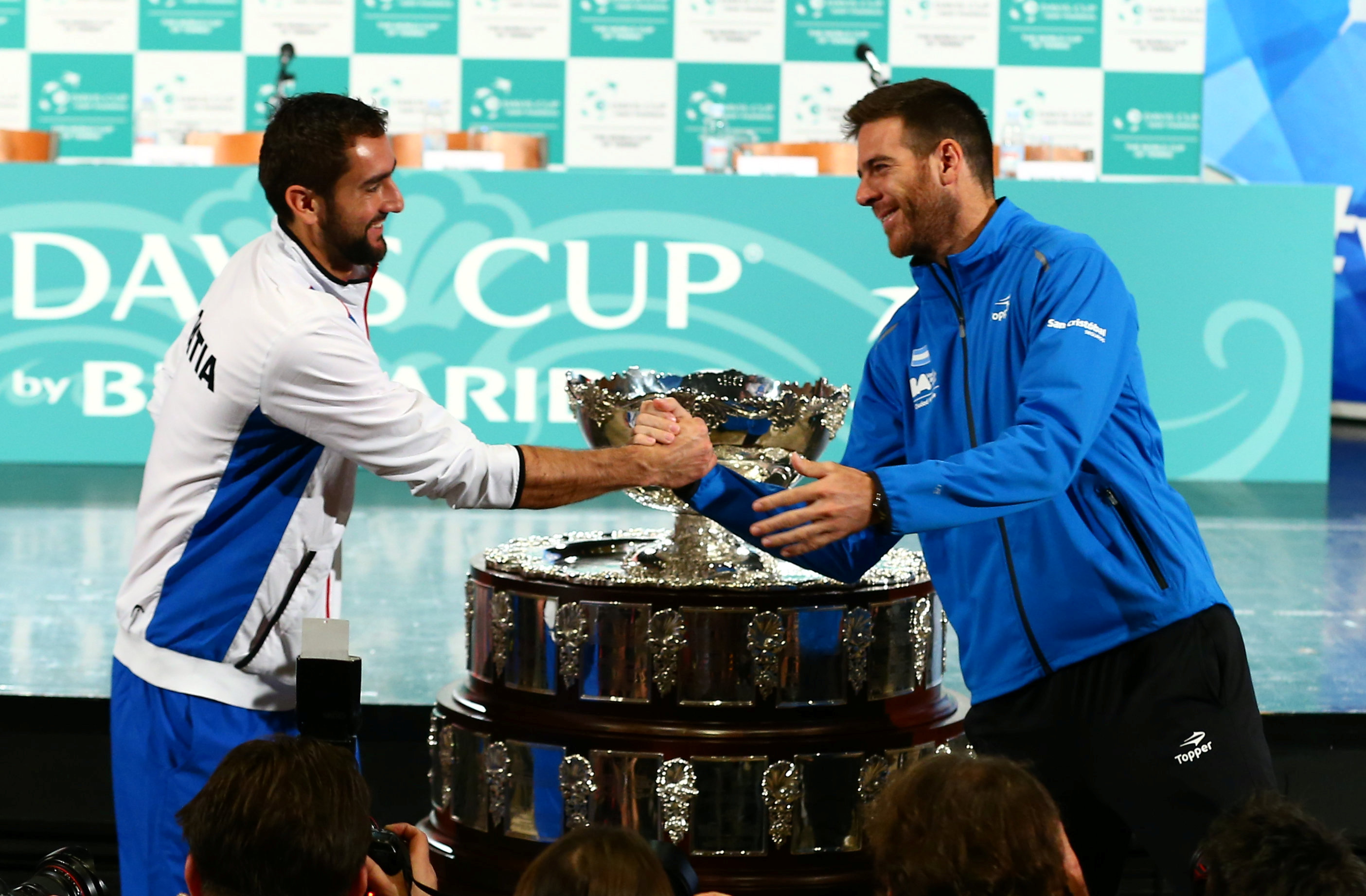 Tennis - Coupe Davis -  Coupe Davis : Cilic-Del Potro, un duel de gros bras