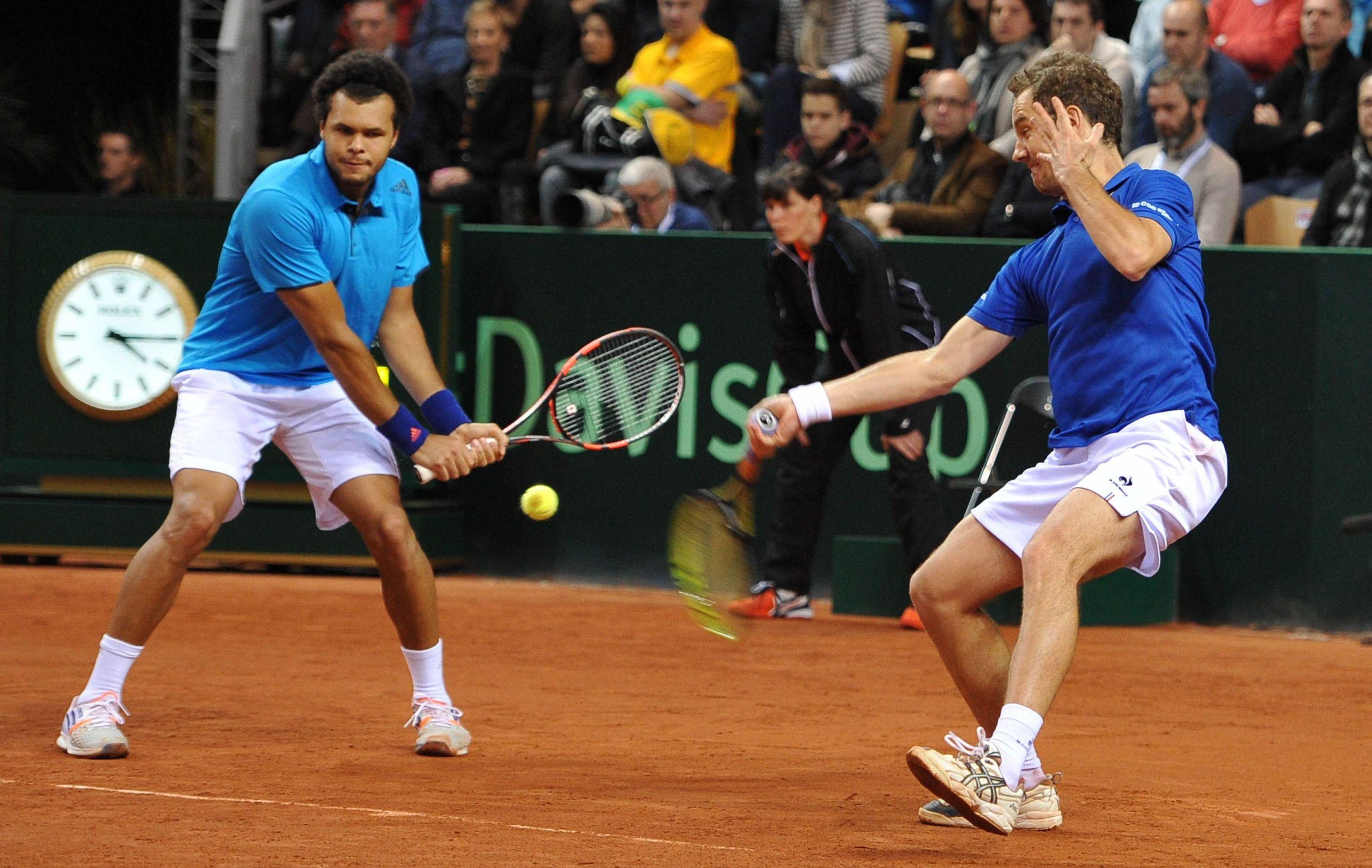 Gasquet tsonga align s en double coupe davis tennis - Horaire double coupe davis ...