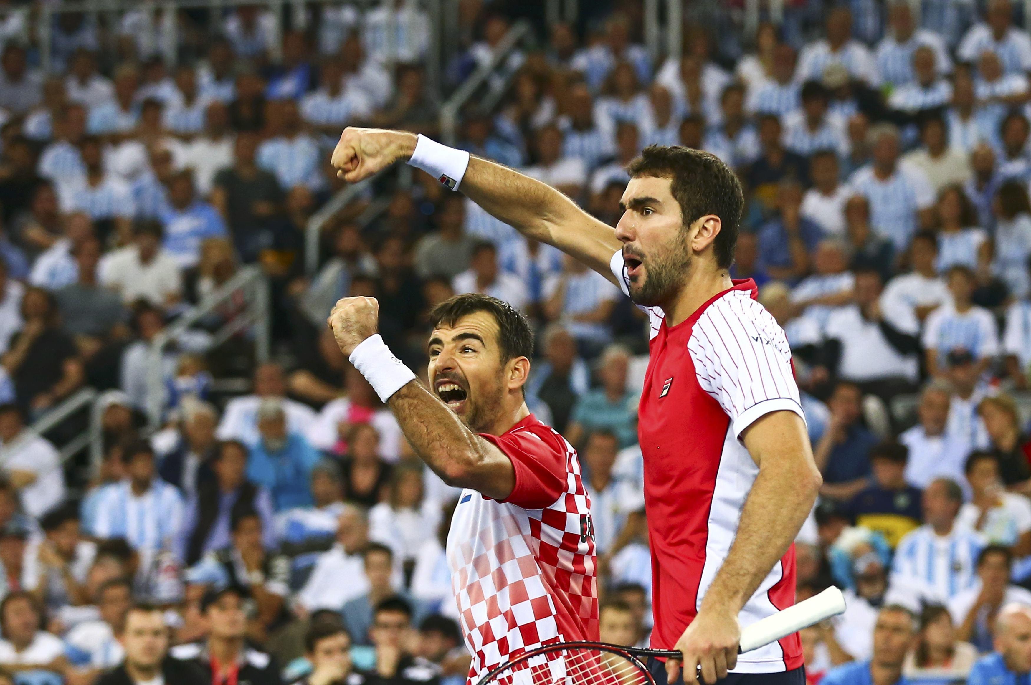 Tennis - Coupe Davis - Coupe Davis : la Croatie remporte le double, l'Argentine dos au mur