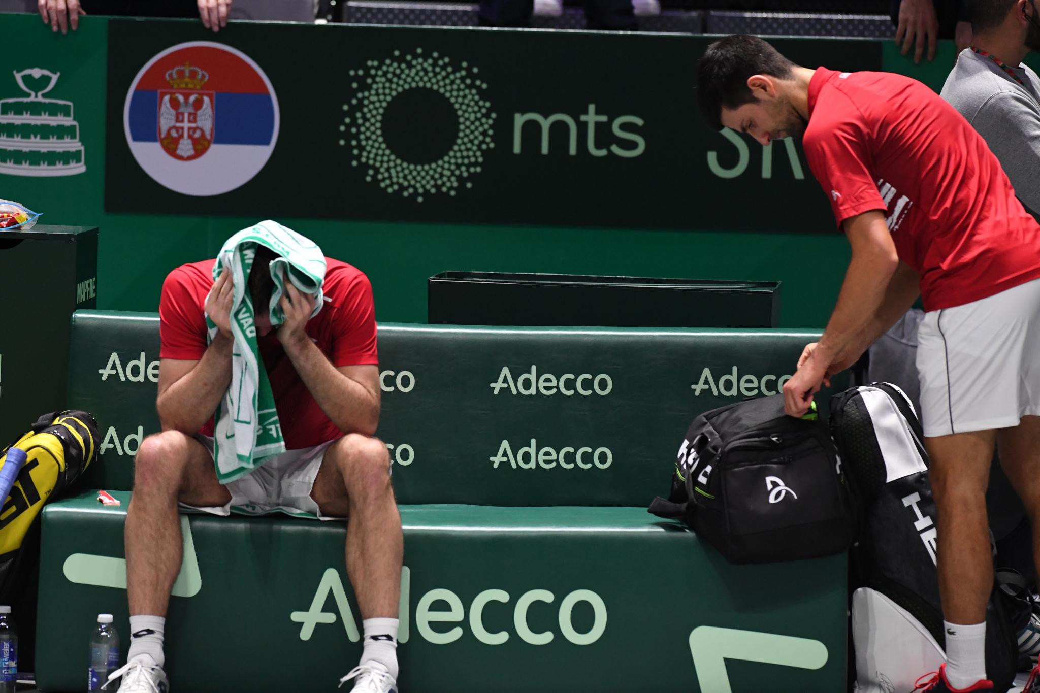 Tennis - Coupe Davis - La Serbie de Djokovic, en larmes et inconsolable en conférence de presse