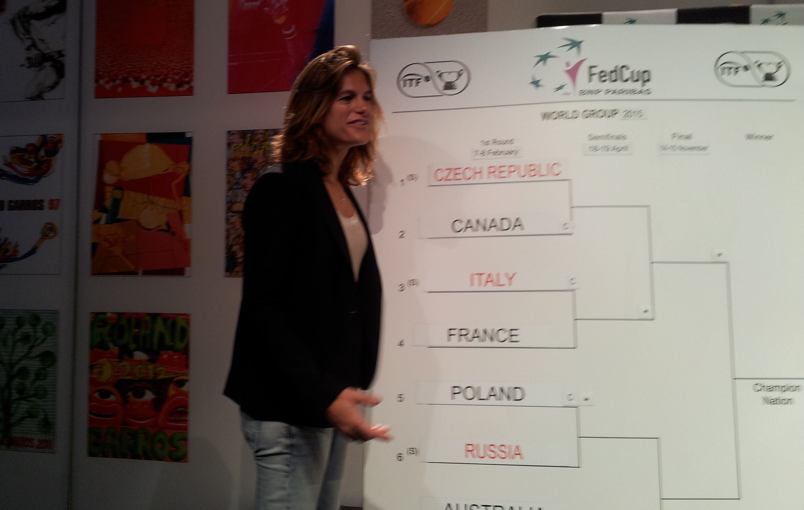 Tennis : Fed Cup - D�placement p�rilleux pour les Bleues en Italie