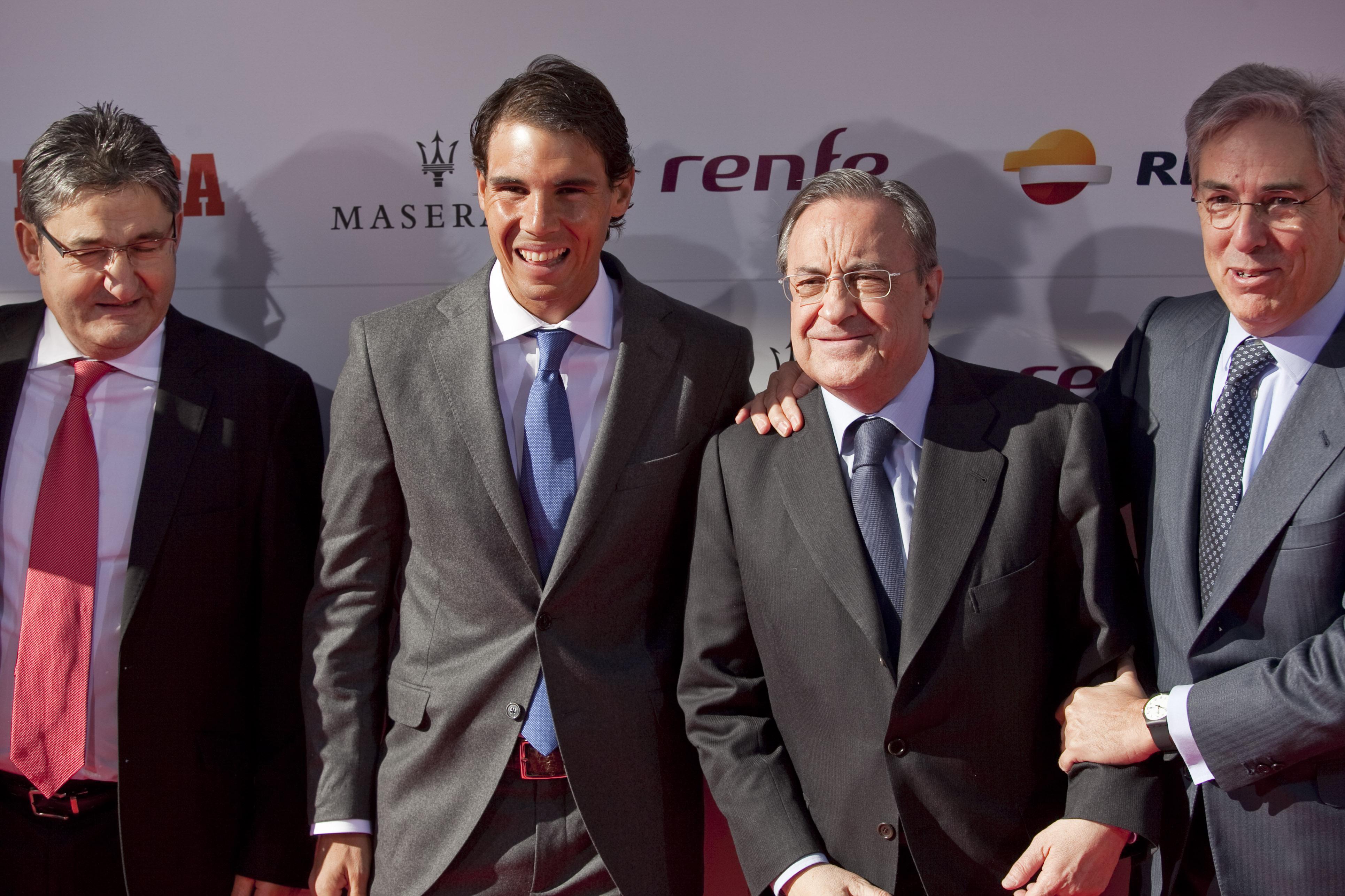 Tennis - Le président du Real Madrid rêverait d'un match Federer-Nadal à Bernabeu