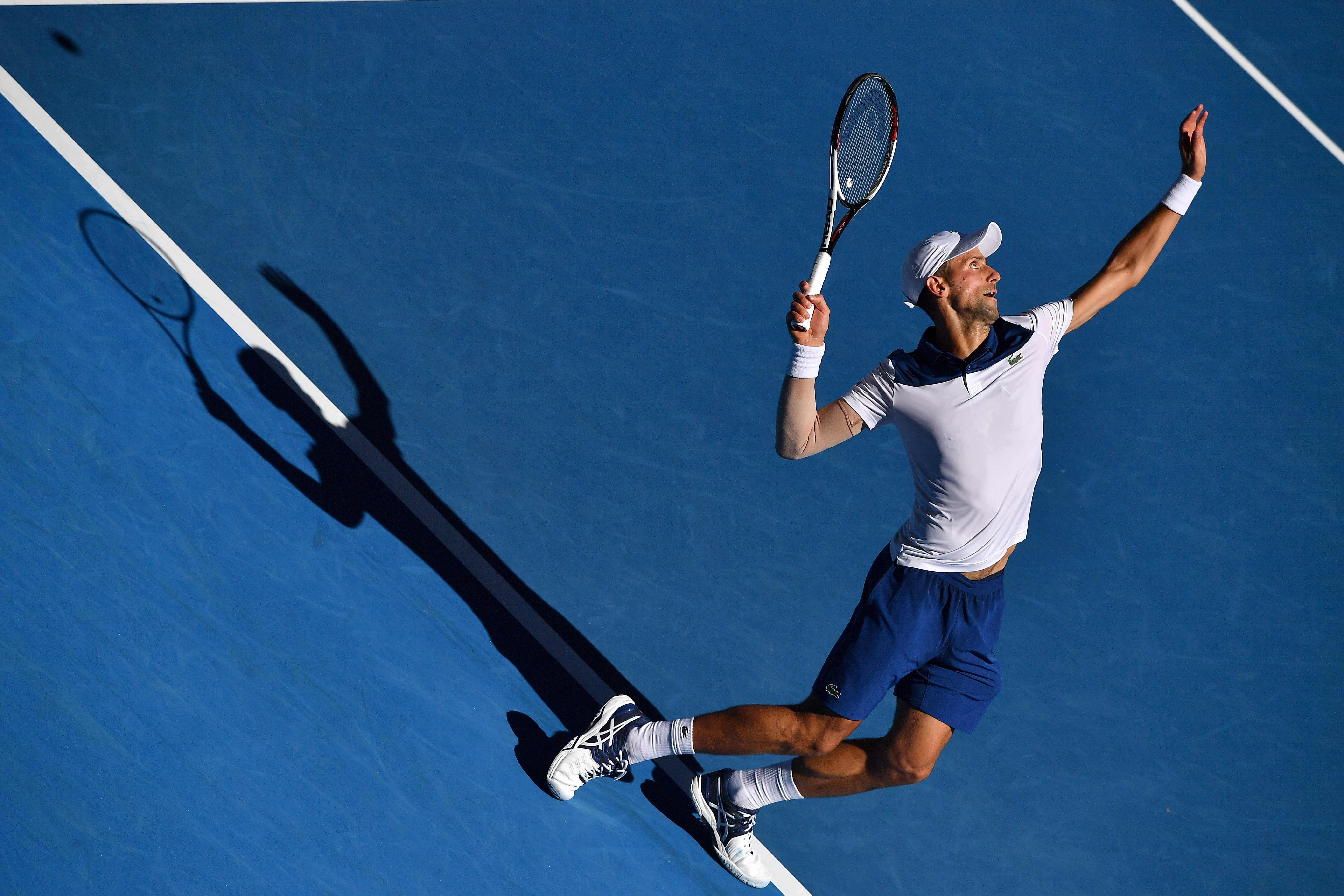 Tennis - Open Australie - Djokovic, décryptage d'un service à l'économie