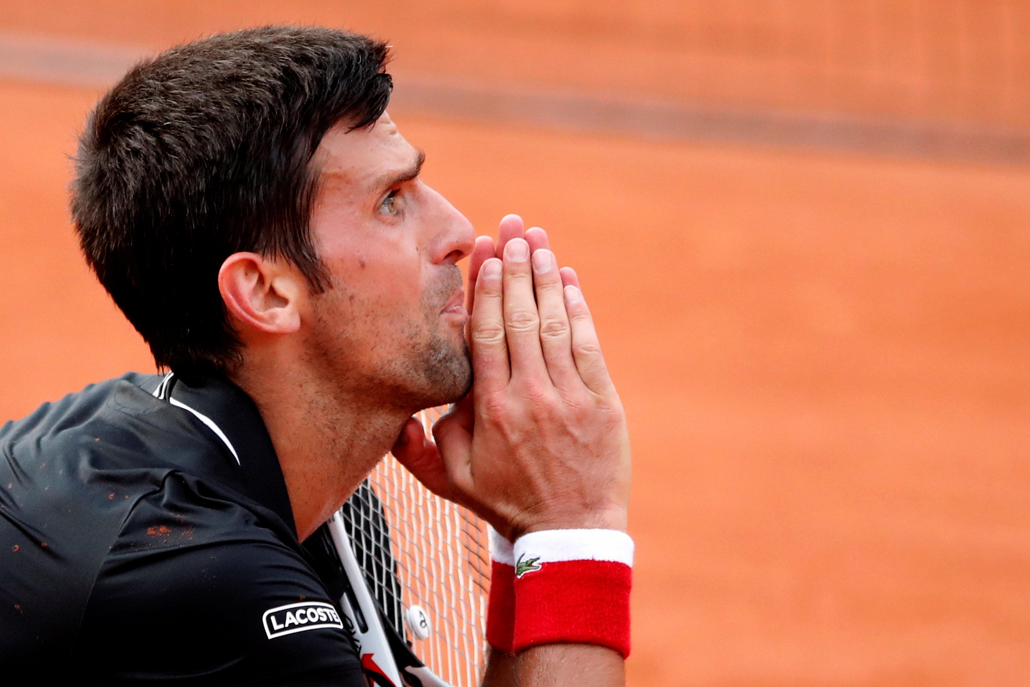 Tennis - Roland-Garros - Novak Djokovic broie du noir