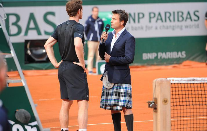 Tennis - Roland-Garros - Pour interviewer Murray, Santoro enfile un kilt