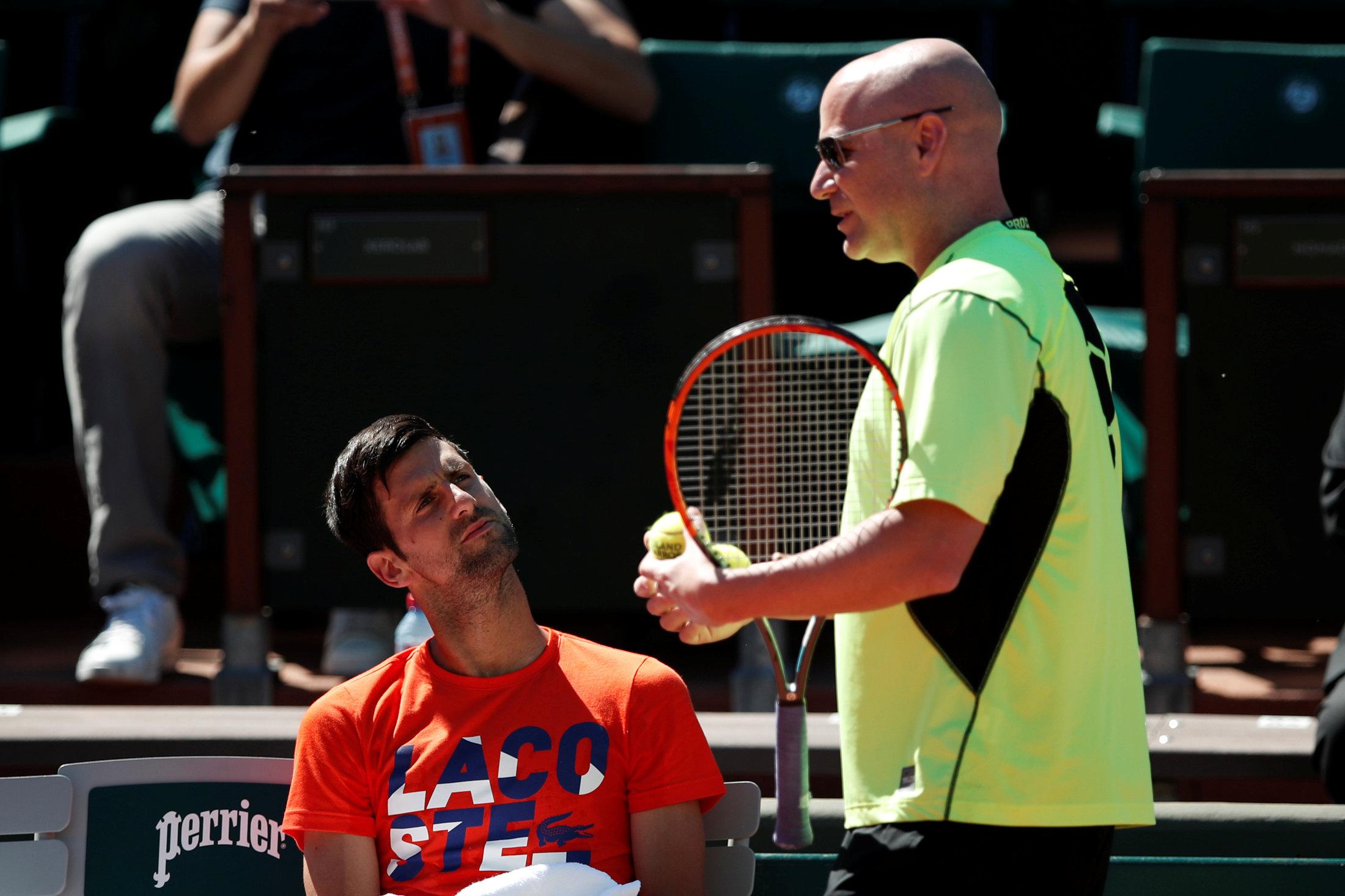 Tennis - Roland-Garros - Billet d'humeur : Les yeux d'Agassi, une flamme pour Djokovic