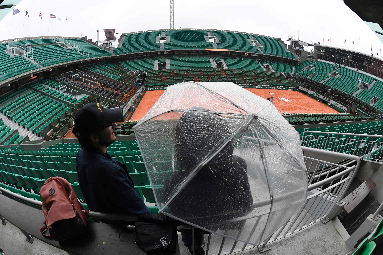 Roland-Garros - Roland-Garros : aucun match ce lundi à cause de la pluie