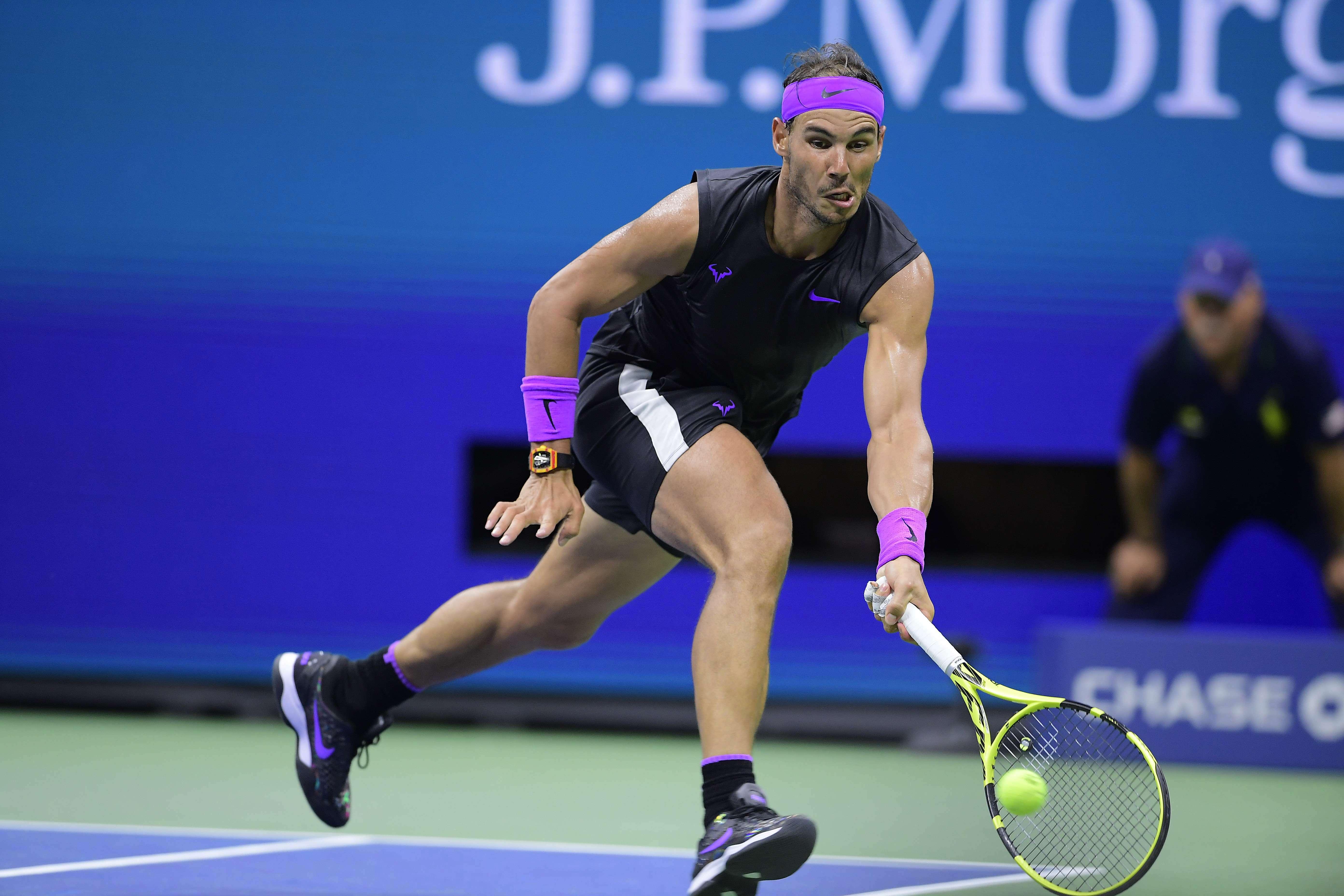 Tennis - US Open - Quand Nadal s'amuse à faire du Federer sous les yeux de Woods