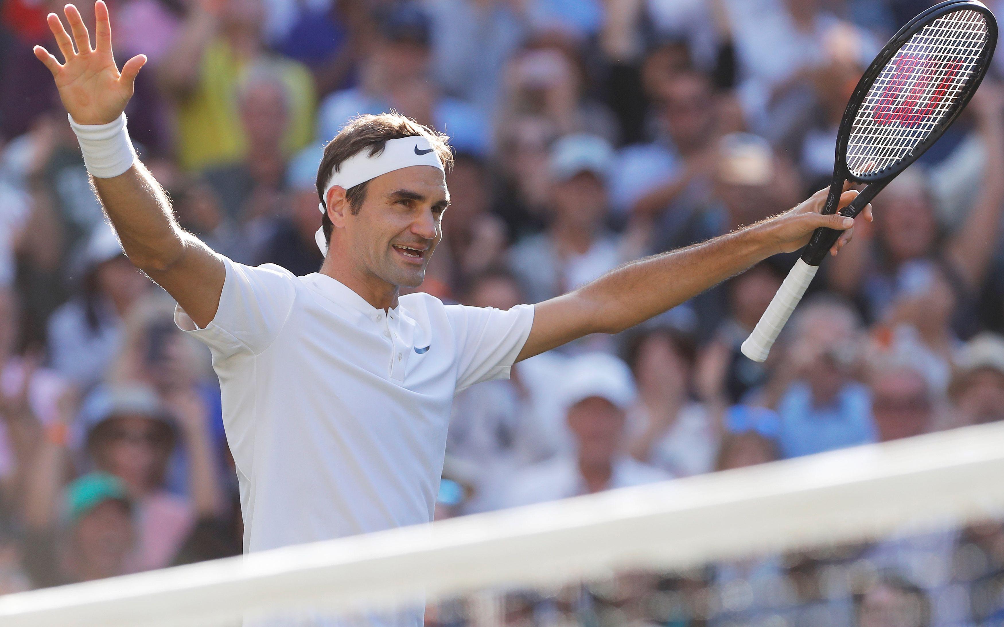 Federer : «Je suis vraiment très satisfait de mon niveau de jeu» - Wimbledon - Tennis