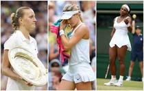 Petra Kvitova, Eugénie Bouchard et Serena Williams