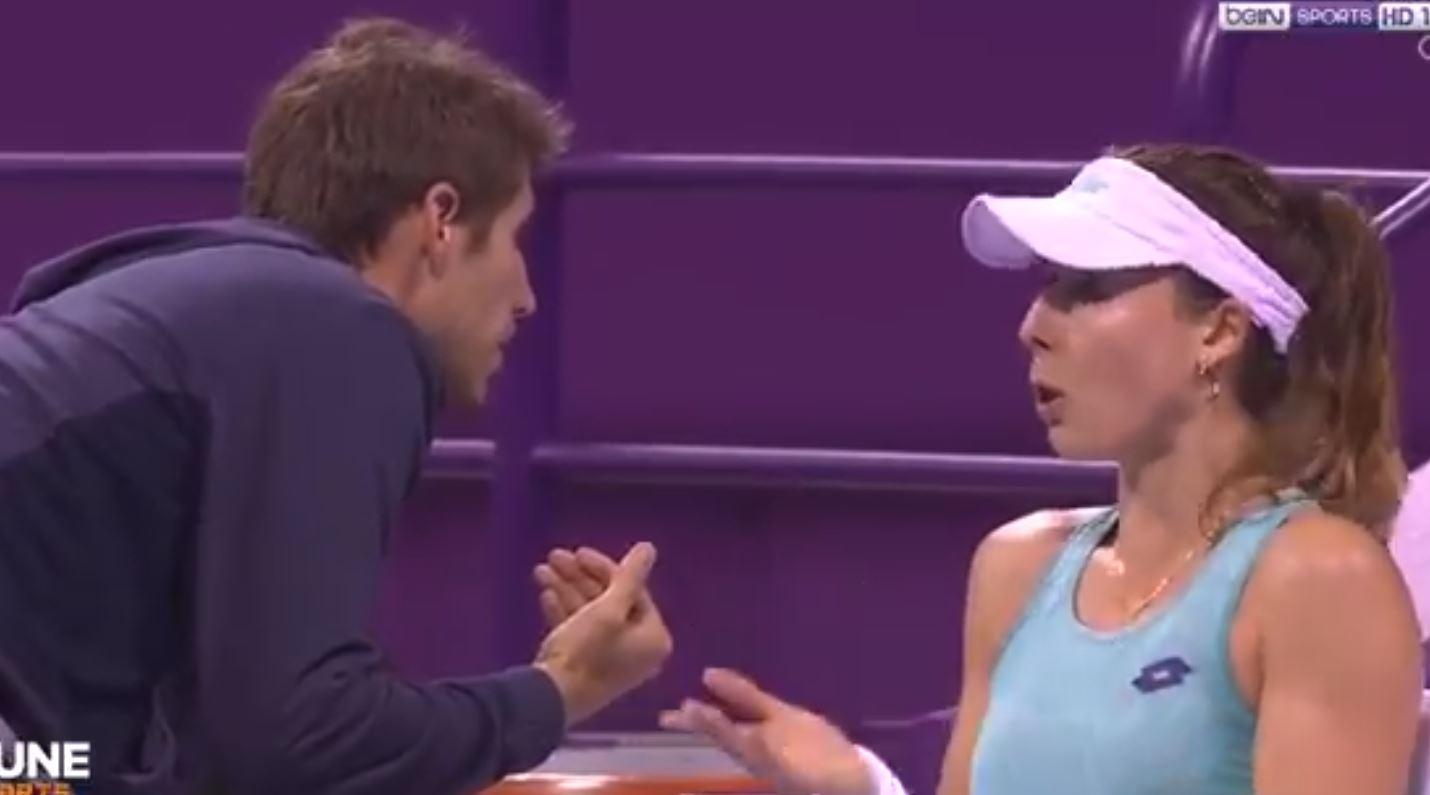 Tennis - WTA - Le coup de colère d'Alizé Cornet contre son entraîneur sur le court