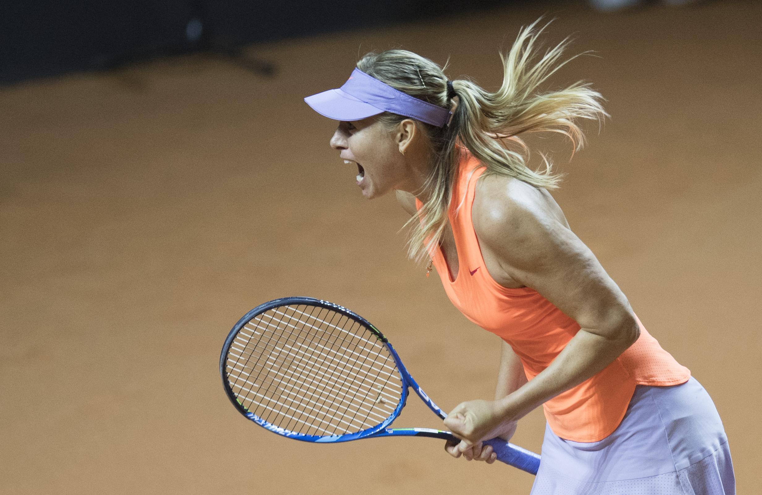 Tennis - WTA - Retour gagnant pour Sharapova après sa suspension pour dopage