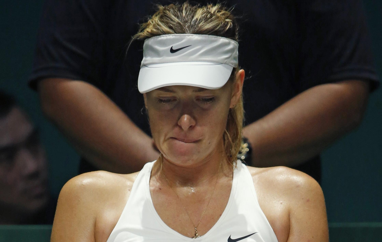 Tennis : WTA - </b>Sharapova &#233;limin&#233;e, Serena finira num&#233;ro 1