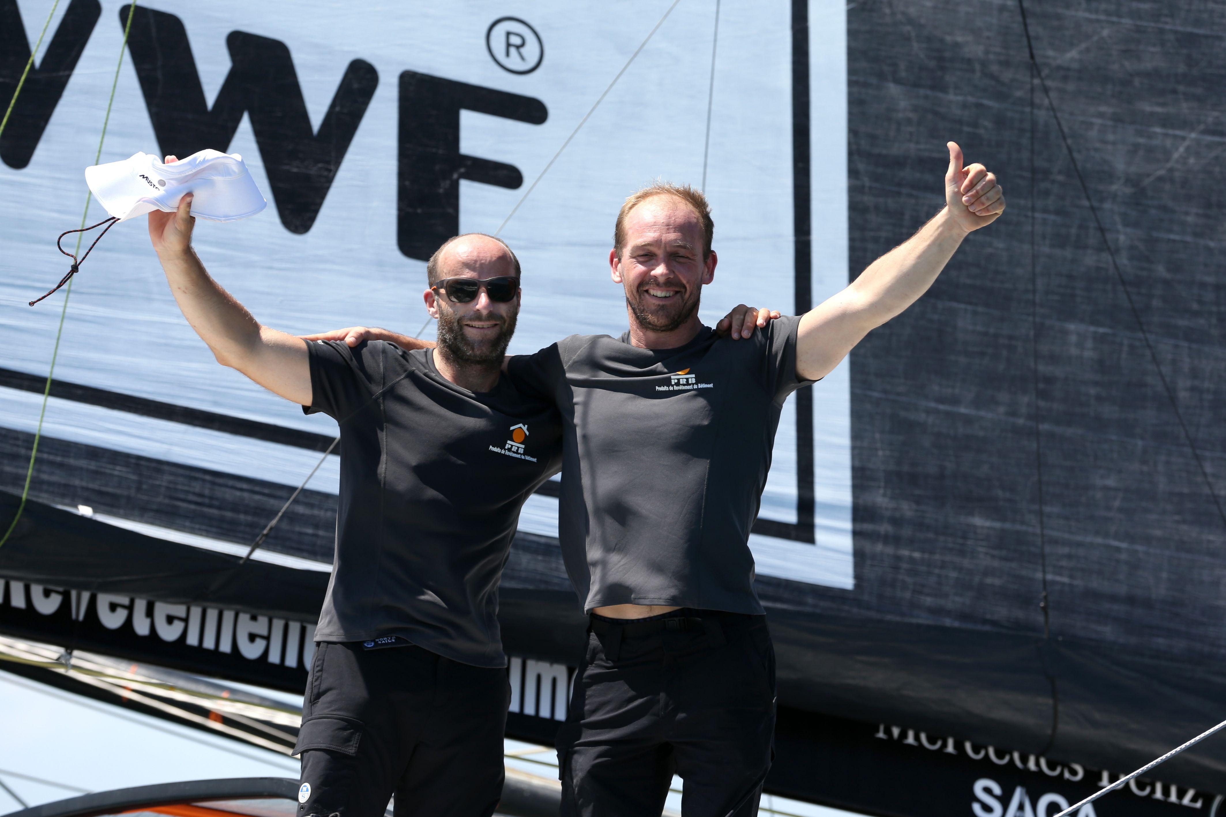 Voile - Transat Jacques Vabre - Kévin Escoffier, heureux 2e à Bahia : «Je m'étais mis une grosse pression»