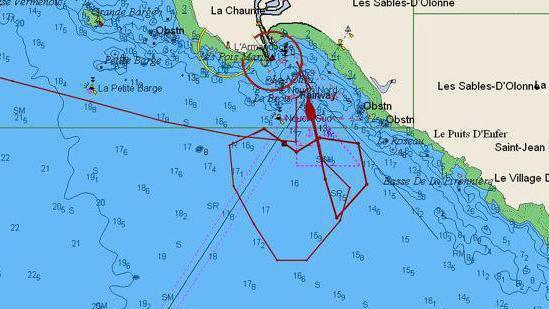 Voile - Vendée Globe - De Lamotte dessine un coeur avec son bateau avant de rentrer
